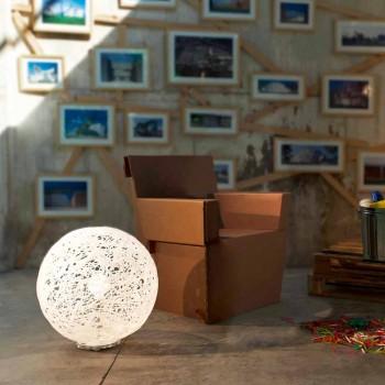 Lampada da terra design moderno Mady diametro 48xH 52cm, made in Italy