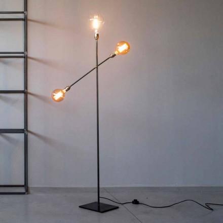 Lampada da Terra di Design in Ferro con Luci Orientabili Made in Italy - Melita