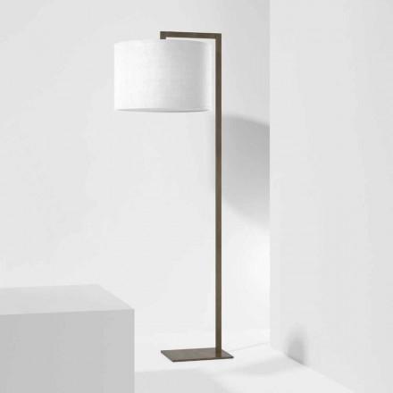 Lampada da Terra di Design in Metallo con Paralume in Lino Made in Italy - Bali