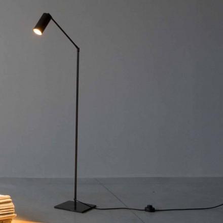 Lampada da Terra in Ferro e Alluminio con Luce Orientabile Made in Italy - Farla