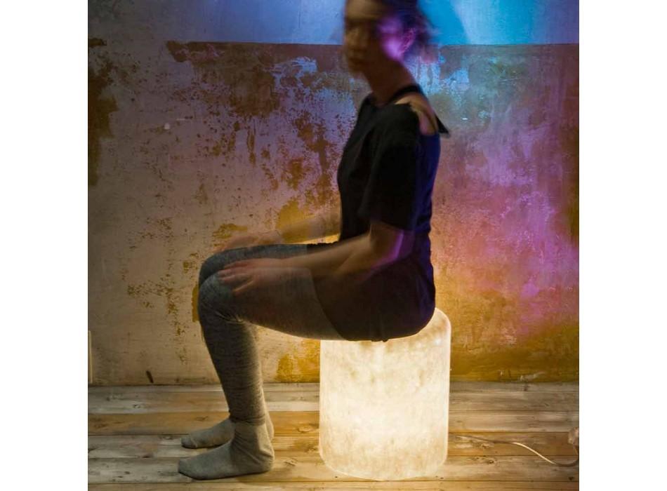Lampada da terra in nebulite In-es.artdesign Bin F Nebula di design
