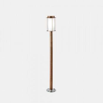 Lampada da Terra Lampione Esterno Alto in Ottone e Vetro - Loggia by Il Fanale