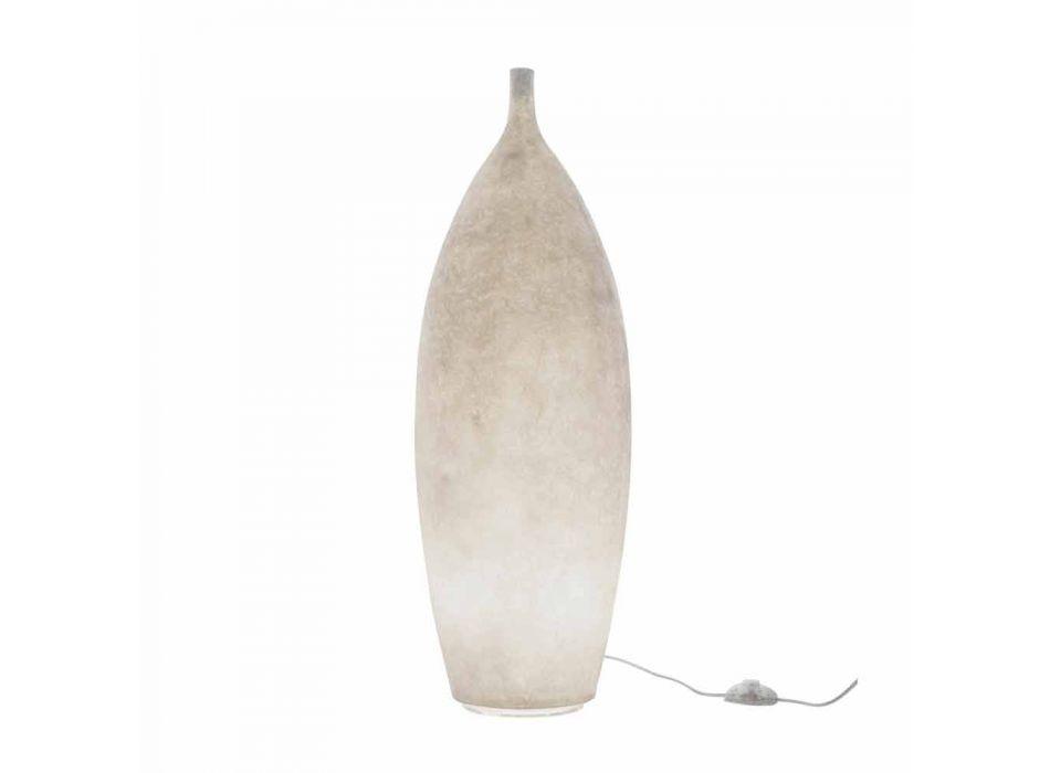 Lampada da terra moderna in nebulite In-es.artdesign Tank 2 H92cm