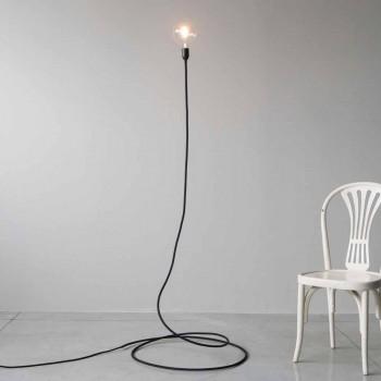 Lampada da Terra Moderna in Rame Lavorato a Mano e Cotone Made in Italy - Guapa