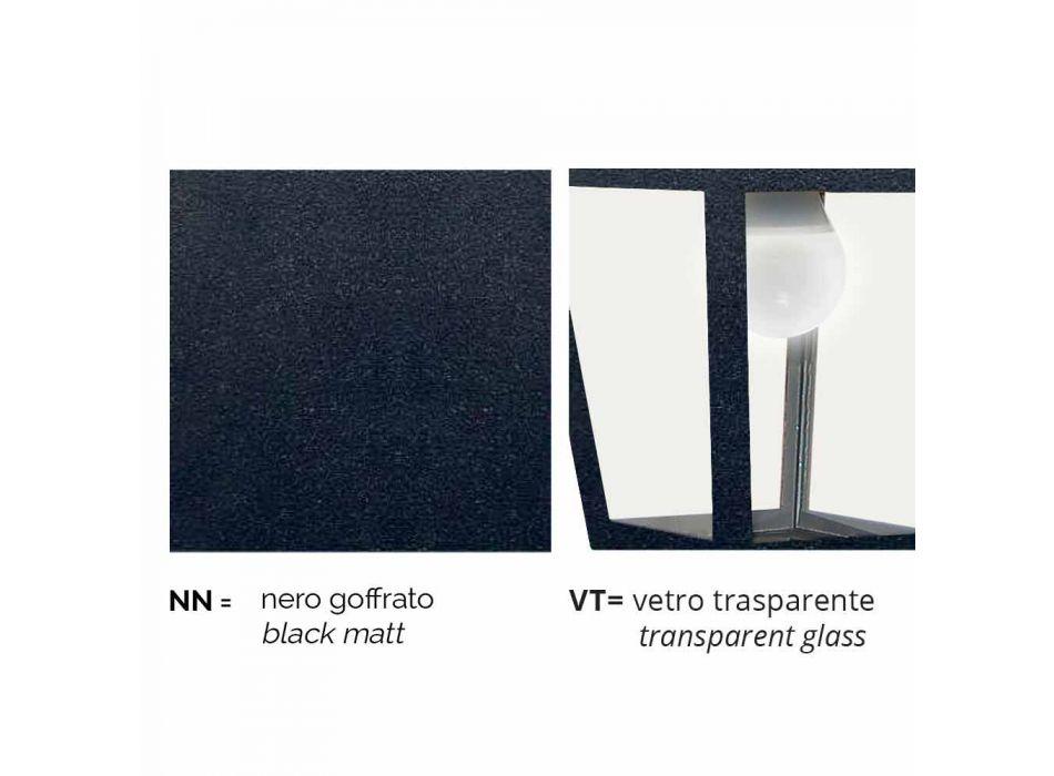 Lampada da terra per esterno in alluminio fatta in Italia, Aquilina