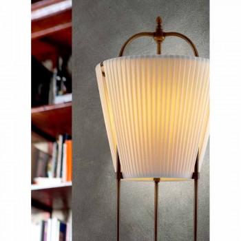 Lampada da terra Tenarunga, in ottone anticato, 1 luce