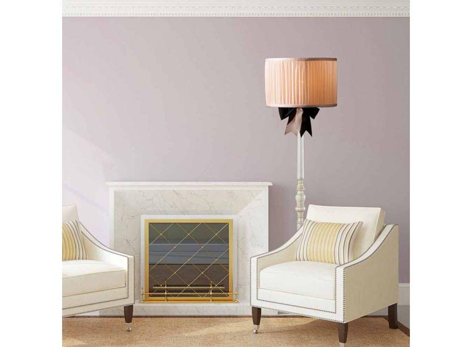 Lampada da terra vintage in seta color avorio Chanel