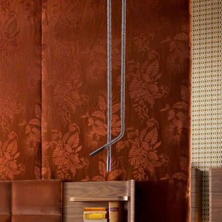 Lampada di design a calata in pelle e metallo Grilli Snake made Italy
