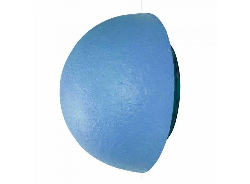 Lampada di design a muro In-es.artdesign Button in colorata nebulite