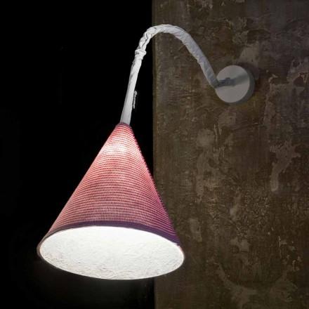 Lampada di design a muro In-es.artdesign Jazz A Stripe lana colorata