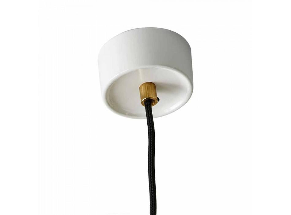 Lampada di design a sospensione in ceramica colorata made Italy Asia