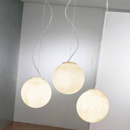 Lampada di design a sospensione In-es.artdesign Tre Lune in nebulite