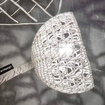 Lampada di design da tavolo In-es.artdesign Trama T2 stelo flessibile