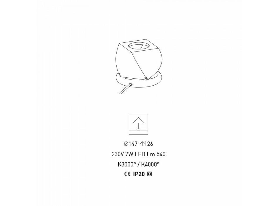 Lampada di Design da Tavolo in Metallo Cromato e Resina Made in Italy - Pechino
