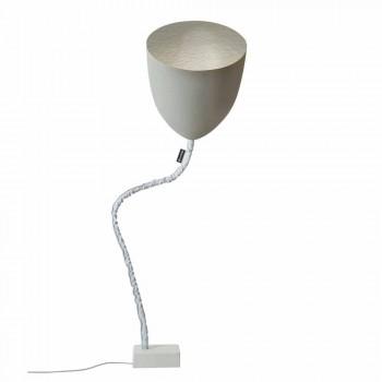Lampada di design da terra In-es.artdesign Flower Cemento verniciata