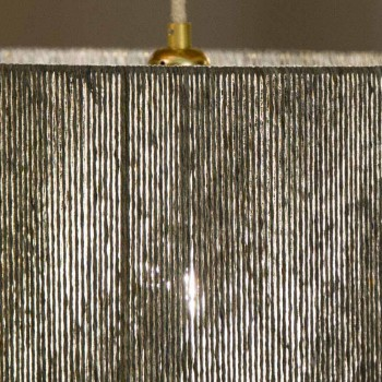 Lampada di design sospesa con d.45 in lana prodotta in Italia Evita