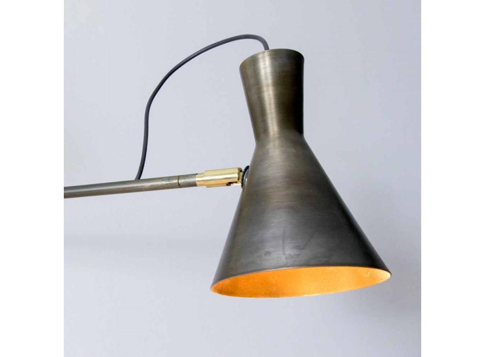 Lampada Doppia a Parete Fatta a Mano in Ferro e Alluminio Made in Italy - Selina