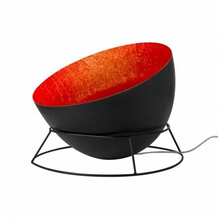 Lampada in acciaio e nebulite da terra In-es.artdesign H2o F colorata