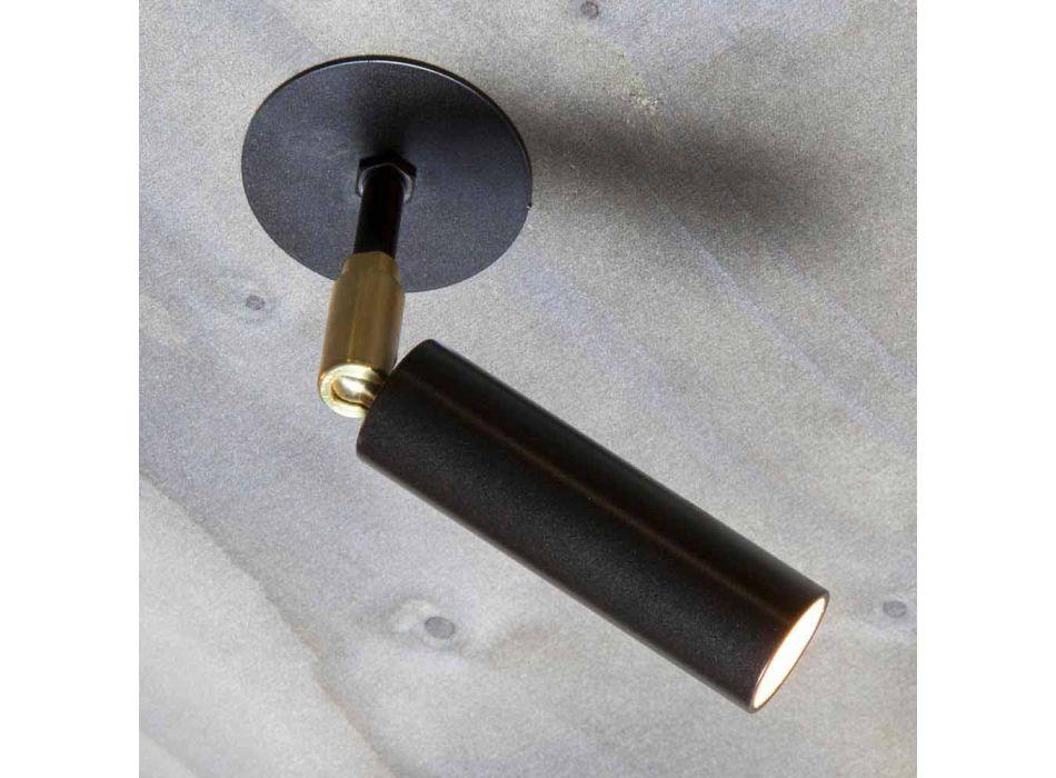 Lampada in Alluminio Fatta a Mano con Luce LED Orientabile Made in Italy - Radia