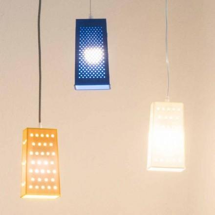 Lampada in laprene sospesa In-es.artdesign Cacio & Pepe 2 colorata