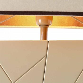 Lampada in legno massiccio da comodino/tavolo Grilli Zarafa made Italy