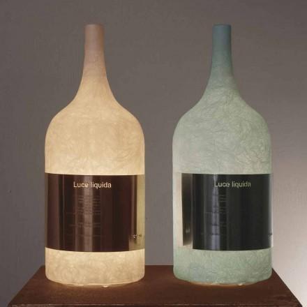 Lampada in nebulite colorata da tavolo In-es.artdesign Luce Liquida1