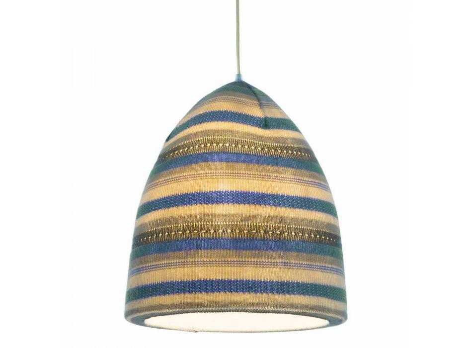 Lampada in nebulite e lana a sospensione In.es.artdesign Flower Stripe