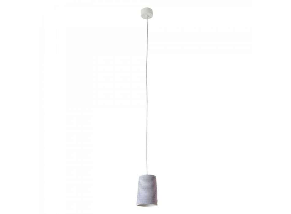 Lampada in nebulite e lana a sospensione In.es.artdesign Paint Stripe