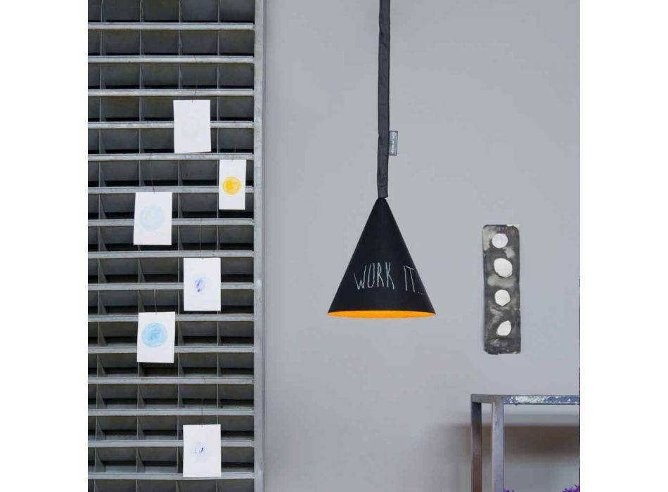 Lampada in resina a sospensione In-es.artdesign Jazz Lavagna moderna