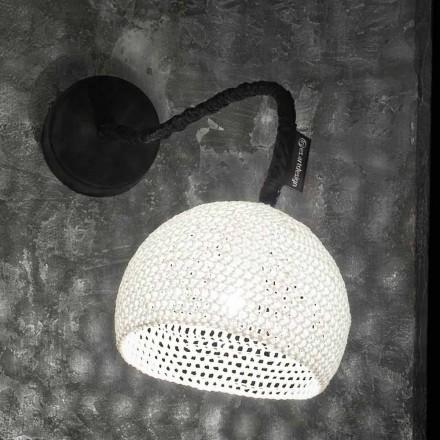 Lampada in resina e cotone a muro In-es.artdesign Trama A1 moderna
