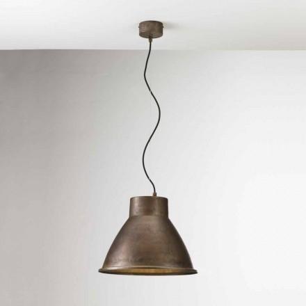 Lampada industriale a sospensione in ferro Loft Media Il Fanale