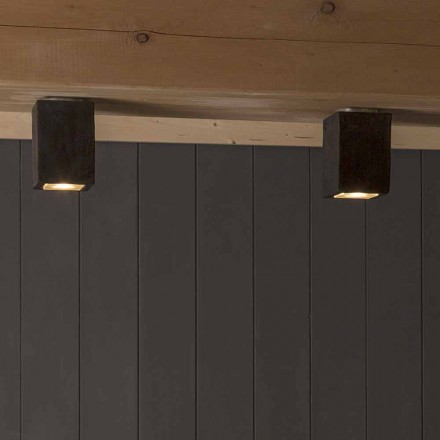 Lampada LED da soffitto da esterno, in terracotta, Smith - Toscot