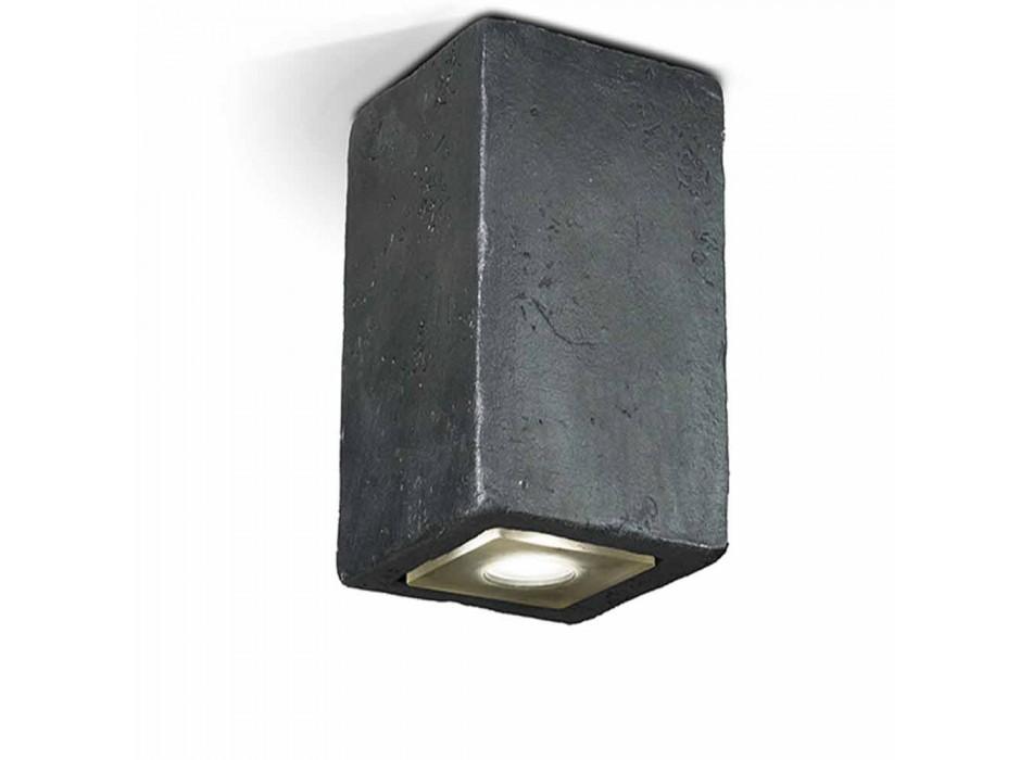 Lampada LED da soffitto da esterno, in terracotta, Smith - Toscot