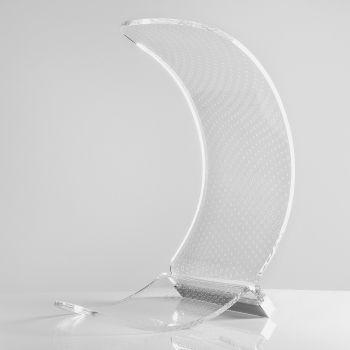 Lampada Led da Tavolo a Forma di Luna Plastica Decorata 2 Misure - Olluna
