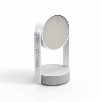 Lampada Led da Tavolo per Esterni, Alluminio Bianco o Grafite - Tofee by Talenti
