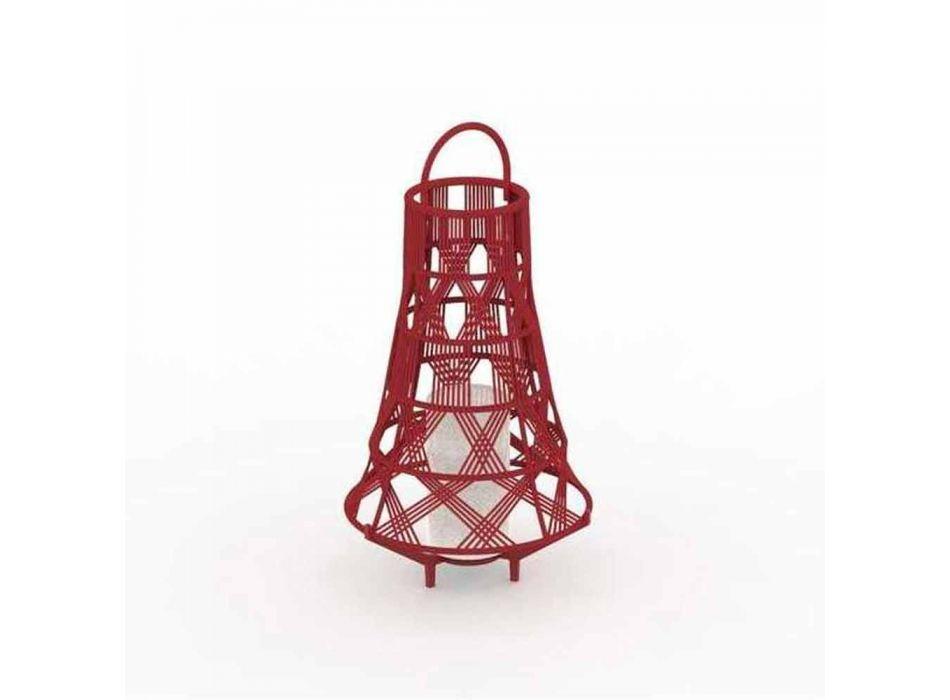 Lampada Led da Terra da Giardino Design in Corda, 3 Misure - Tribal by Talenti