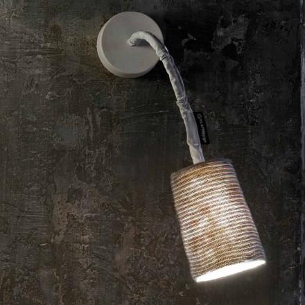 Lampada moderna a muro In-es.artdesign Paint A Stripe nebulite e lana