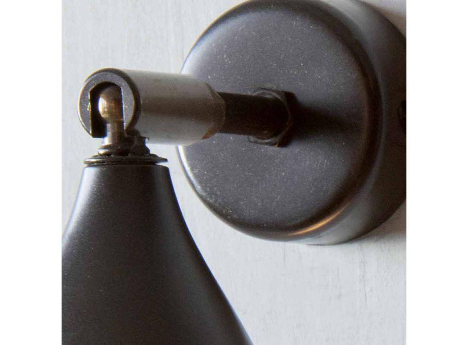 Lampada Moderna a Parete Artigianale in Ferro e Alluminio Made in Italy - Conica