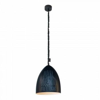 Lampada moderna a sospensione In-es.artdesign Flower S Lavagna resina