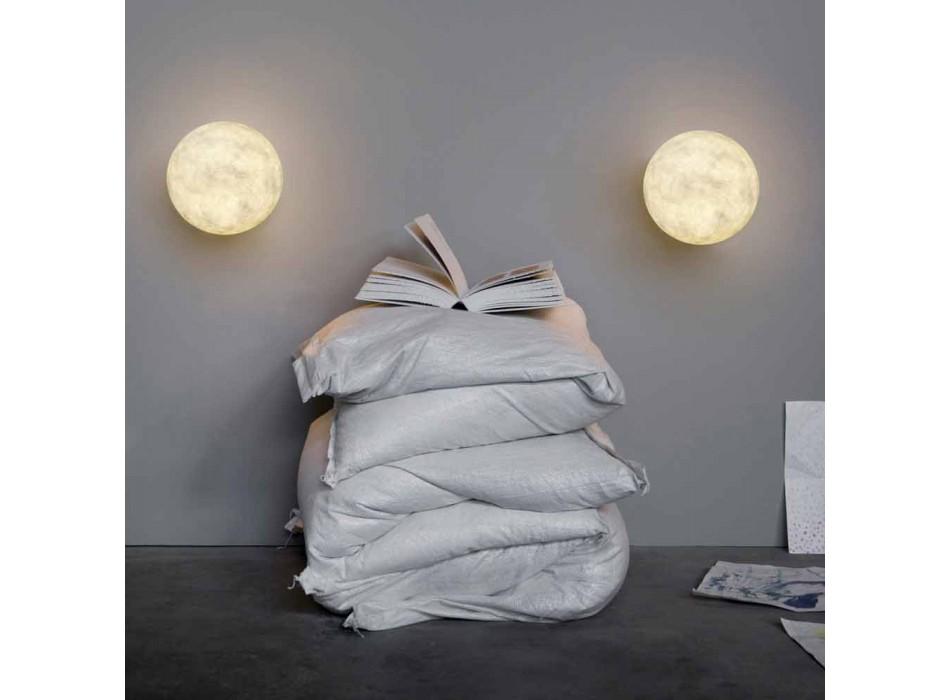 Lampada moderna da muro In-es.artdesign A. Moon in nebulite