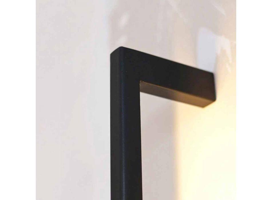Lampada Moderna da Parete Fatta a Mano in Ferro Nero Made in Italy - Pamplona