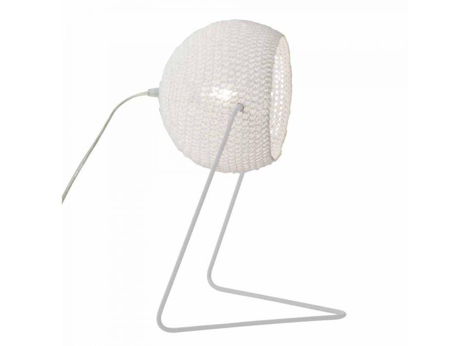 Lampada moderna da tavolo In-es.artdesign Trama T1 cotone fatta a mano