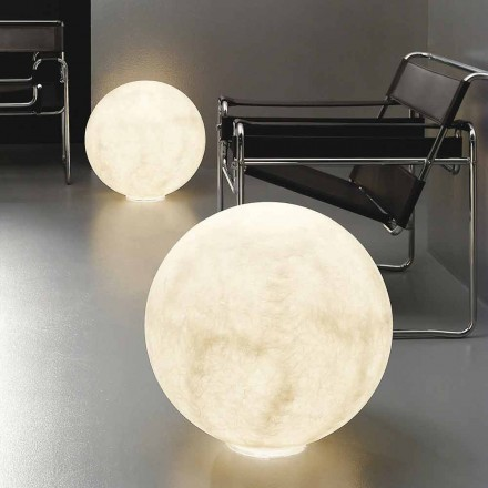 Lampada moderna da tavolo sferica In-es.artdesign Floor Moon nebulite