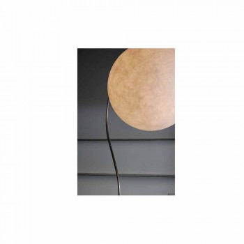 Lampada moderna da terra bianca nebulite In-es.artdesign Luna H210cm