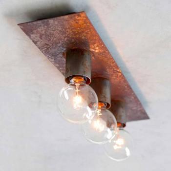 Lampada Moderna Fatta a Mano in Ferro Nero o Corten Made in Italy - Alabama
