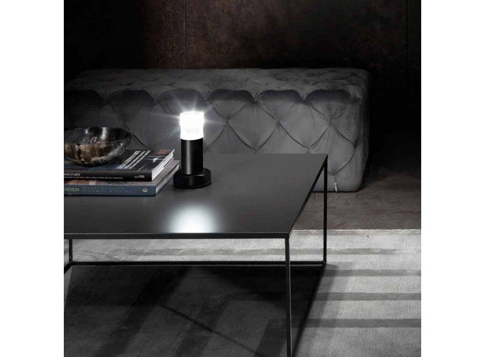 Lampada Moderna in Metallo Nero e Plexiglass Trasparente Made in Italy - Dalbo