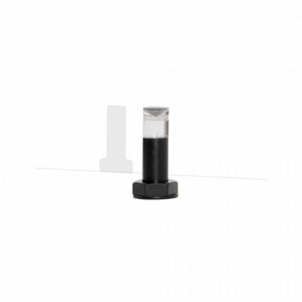 Lampada da Tavolo Moderna in Metallo Nero e Plexiglass Made in Italy - Dalbo