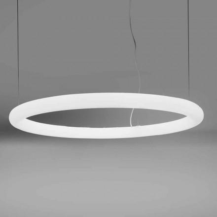 Lampada a Sospensione Tonda a LED in Polietilene Made in Italy - Slide Giotto