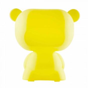 Lampada orso da tavolo luminosa Slide Pure colorata fatta in Italia