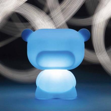 Lampada da tavolo luminosa a forma di orso Slide Pure, fatta in Italia